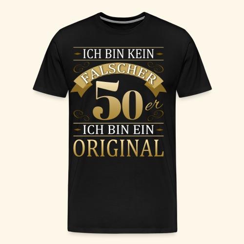 Falscher 50er 50. Geburtstaggeschenk 50 Original - Männer Premium T-Shirt