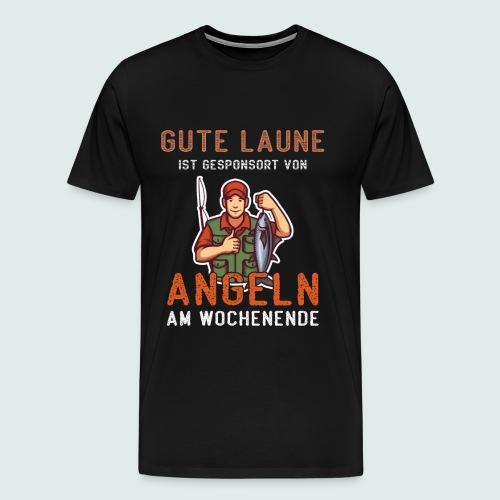 ANGELN ANGLER GESCHENK - Gute Laune am Wochenende - Männer Premium T-Shirt