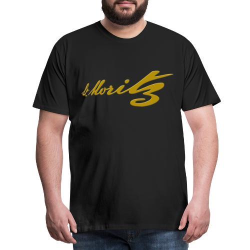 St. Moritz Schweiz Souvenir - Männer Premium T-Shirt