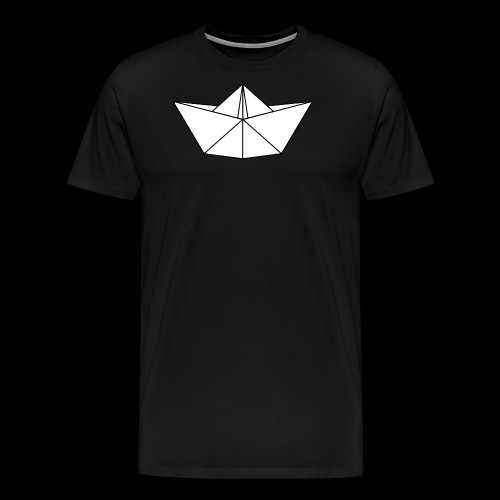 Origami Schiff - Männer Premium T-Shirt