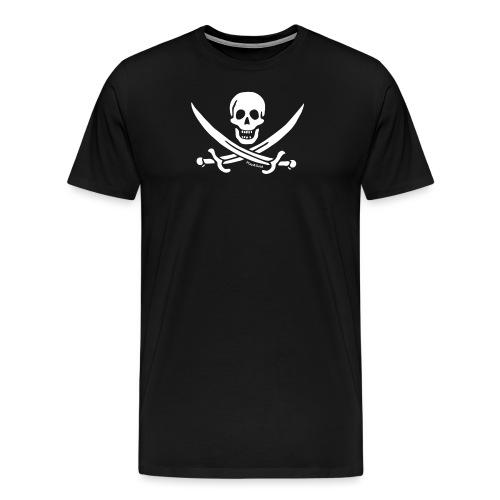 pirateskull white - T-shirt Premium Homme