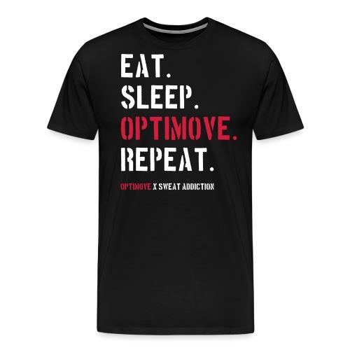 Eat Sleep Optimove Repeat - Miesten premium t-paita