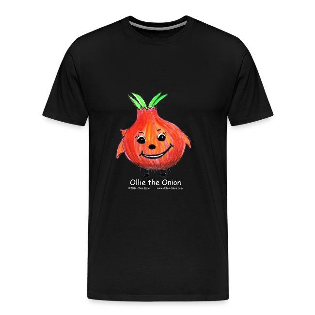 mens black T-shirt Ollie the Onion