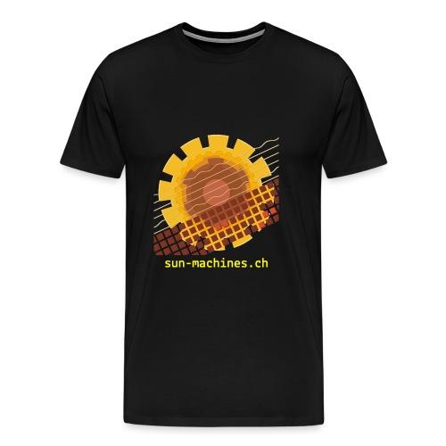 Yellow Text Logo - Männer Premium T-Shirt