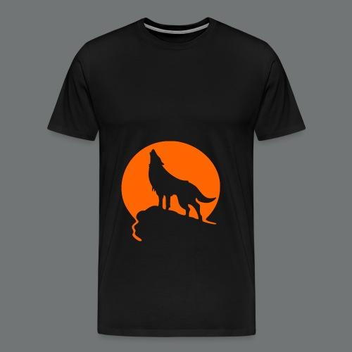 WolfHowl3 gif - Men's Premium T-Shirt