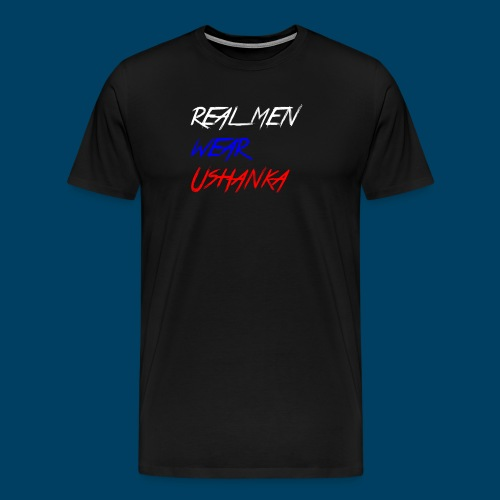 real men wear ushanka - Premium-T-shirt herr