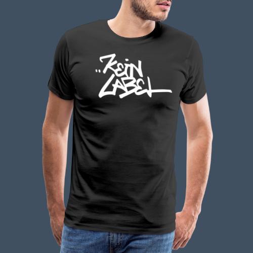 Kein Label Weiß - Männer Premium T-Shirt