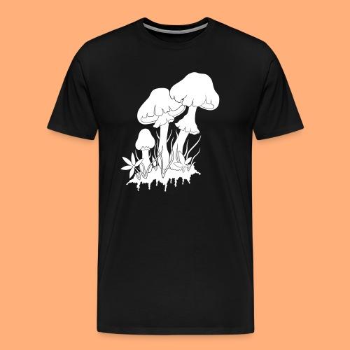 champignons noir et blanc - T-shirt Premium Homme