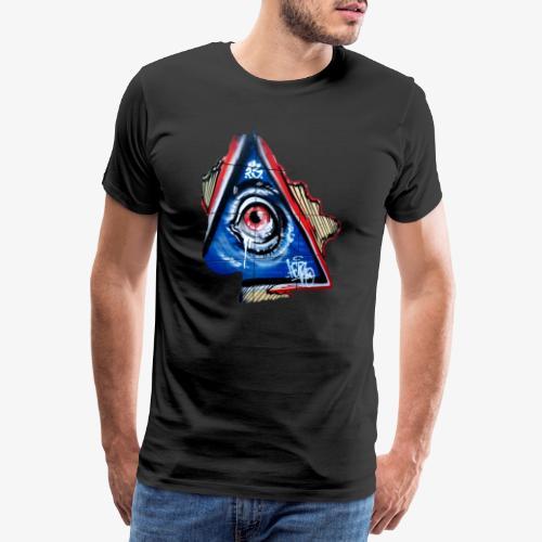 Streetart Auge 4 - Männer Premium T-Shirt