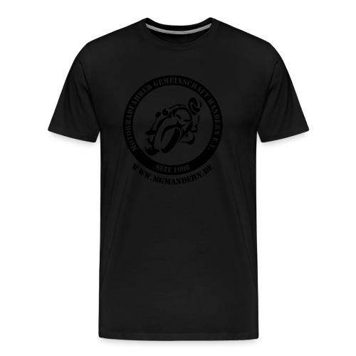 Logo Hinten mit WWW - Männer Premium T-Shirt