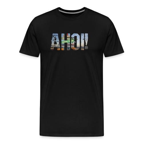 Plattdeutsch Ahoi Norden Spruch-Shirt - Männer Premium T-Shirt