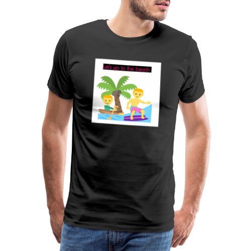 beach - Premium-T-shirt herr
