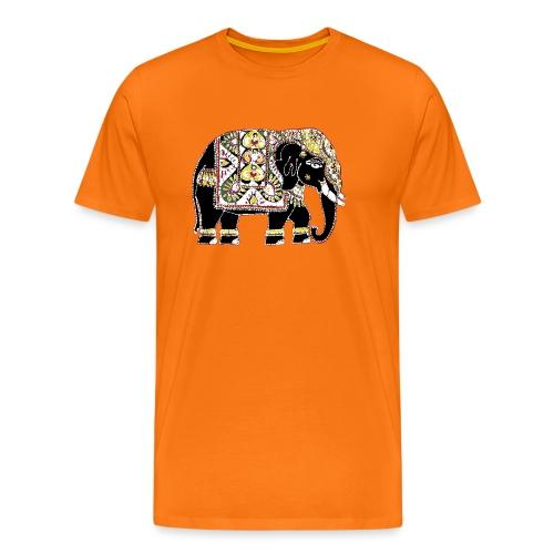 Indian elephant for luck - Men's Premium T-Shirt