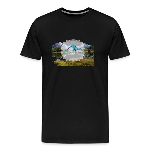 Logo mit Berglandschaft - Männer Premium T-Shirt