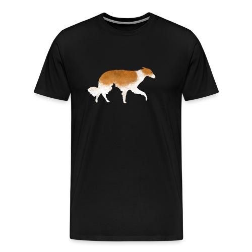 Ein Barsoi - Männer Premium T-Shirt