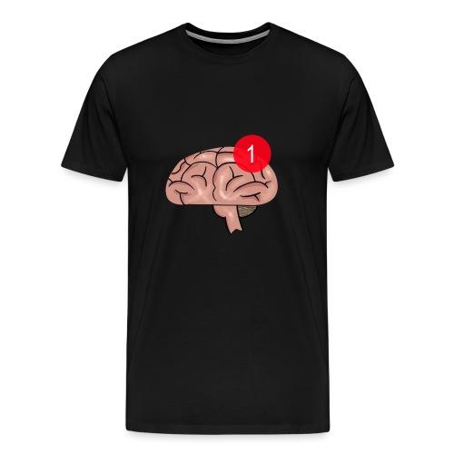 Notification on the brain - Premium T-skjorte for menn