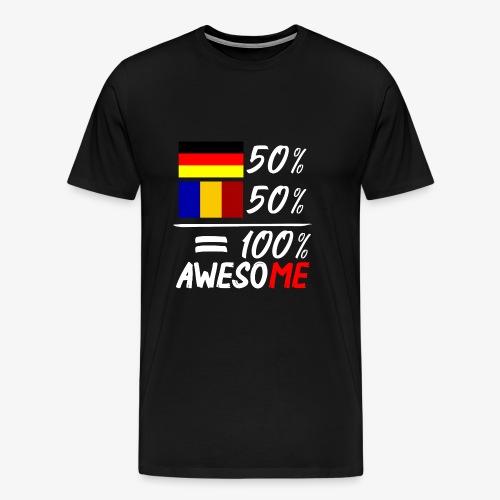 50% Deutsch 50% Rumänisch - Männer Premium T-Shirt