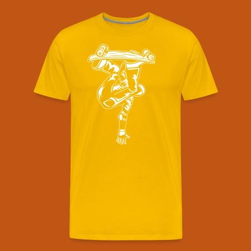 Skater / Skateboarder 03_weiß - Männer Premium T-Shirt