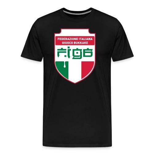 figb logo semplificato bicolore crop 10 - Maglietta Premium da uomo