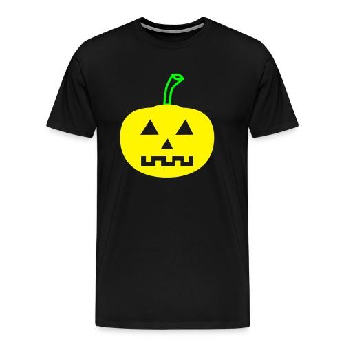 Halloween-Kürbis zweifarbig - Männer Premium T-Shirt