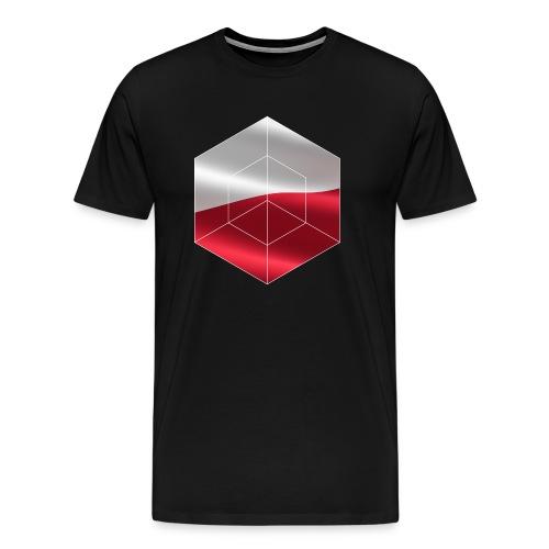 Polska | Polska flaga prezent z polskiego emblematu - Koszulka męska Premium