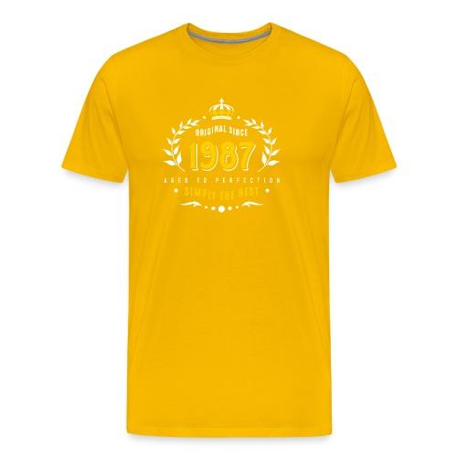 original since 1987 simply the best 30th birthday - Men's Premium T-Shirt