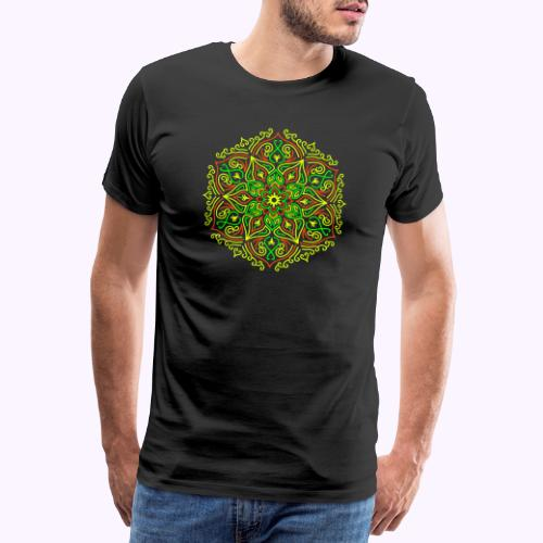 Feuer Lotus Mandala - Männer Premium T-Shirt