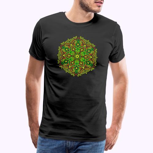 Fire Lotus Mandala - Herre premium T-shirt