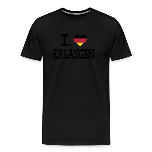 ich liebe erlangen - Männer Premium T-Shirt