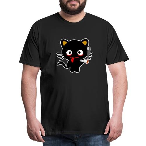 Kiffer Katze Cannabis Smoking Weed, legalize it - Männer Premium T-Shirt