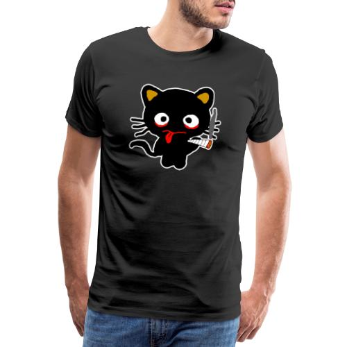 Pothead Cat Cannabis Smoking Weed, legalize it - Men's Premium T-Shirt
