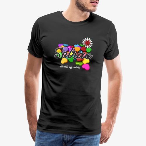 SOLRAC Hearts black - Camiseta premium hombre