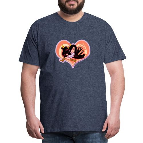 Girl and Ox (Love) - Men's Premium T-Shirt