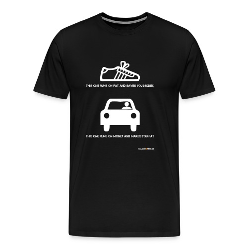 runs on fat shoe - Premium-T-shirt herr