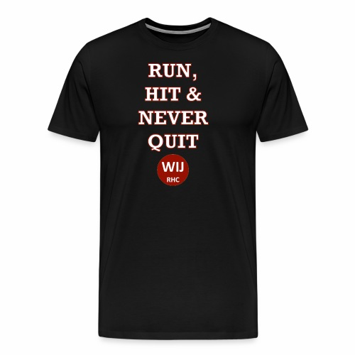 Run Hit never Quit - Mannen Premium T-shirt