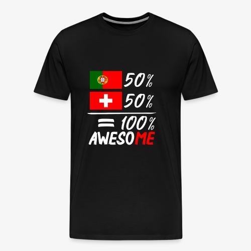 50% Portugal 50% Schweiz - Männer Premium T-Shirt