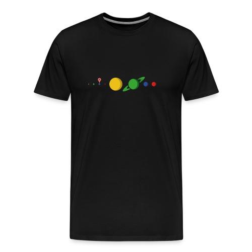 Kugel Maps - Männer Premium T-Shirt