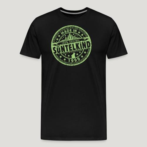 SÜNTELKIND 1999 - Das Süntel Shirt mit Süntelturm - Männer Premium T-Shirt