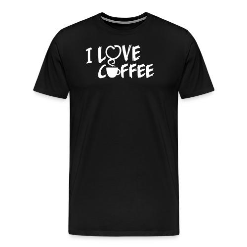I love Coffee / Ich liebe Kaffee 1 color - Männer Premium T-Shirt