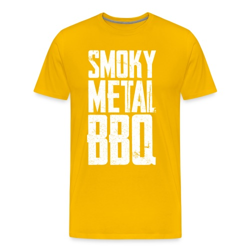 smoky metal bbq logo - Men's Premium T-Shirt