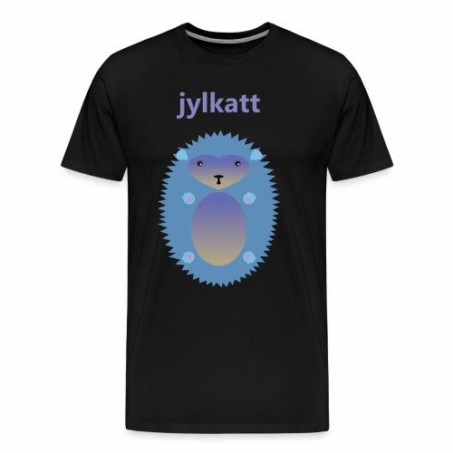 Blå Jylkatt Bornholmsk ord - Herre premium T-shirt