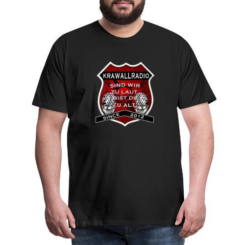 Krawall Radio Wappen - Männer Premium T-Shirt
