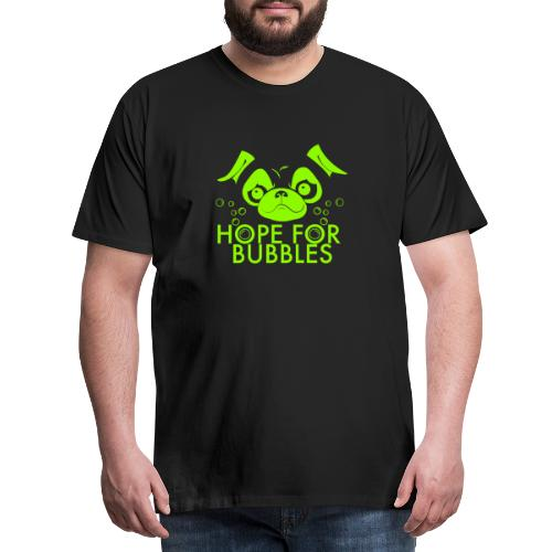 HOPE FOR BUBBLES LIME MERCH - Mannen Premium T-shirt