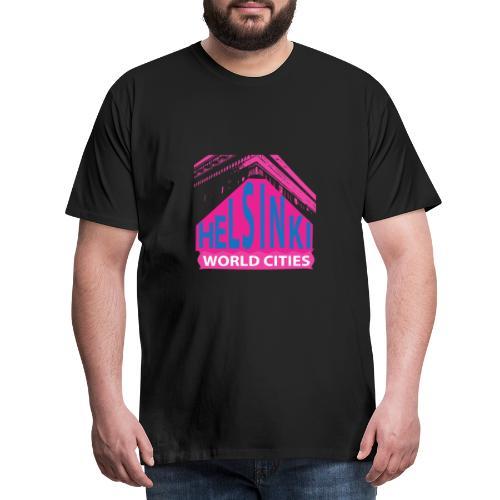 Helsinki2 pink2 - Men's Premium T-Shirt
