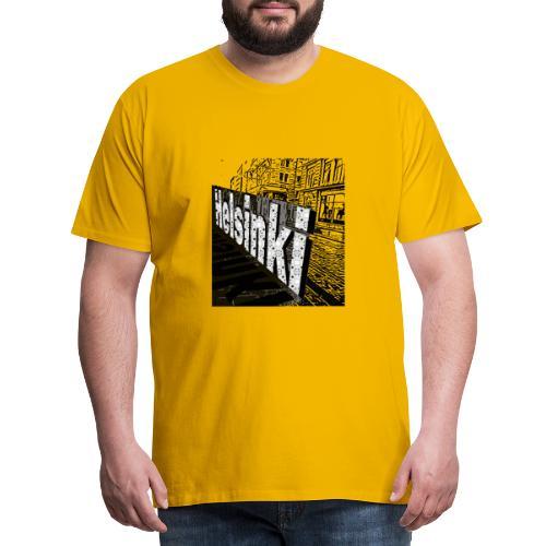 Helsinki tram Typo - Men's Premium T-Shirt