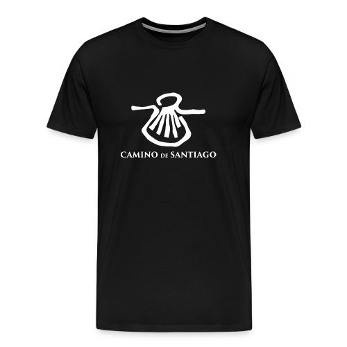 Camino de Santiago white png - Herre premium T-shirt