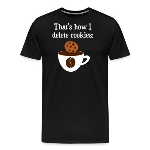 Cookies Kaffee Nerd Geek - Männer Premium T-Shirt