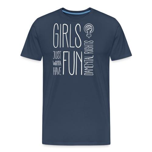 Girls just wanna have fundamental rights - Männer Premium T-Shirt