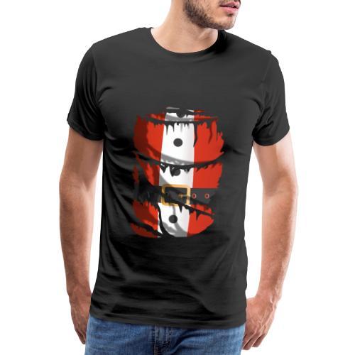 Tela rasgada con traje de Papá Noel - Camiseta premium hombre