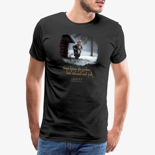 Gårdstomte - Premium-T-shirt herr